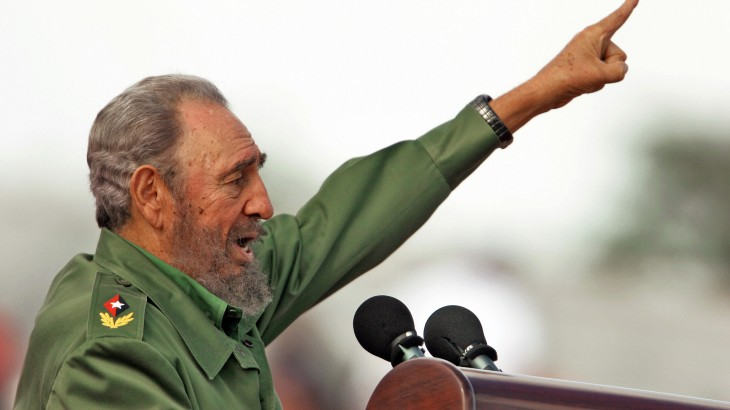 (FILES) Cuban President Fidel Castro spe