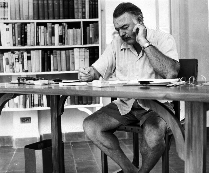 ernest hemingway writings The life of ernest hemingway ernest miller hemingway was born in oak park, illinois (just outside of chicago) on july 21, 1899 his father, clarence, was a medical doctor and his mother, grace, was a voice and piano teacher.